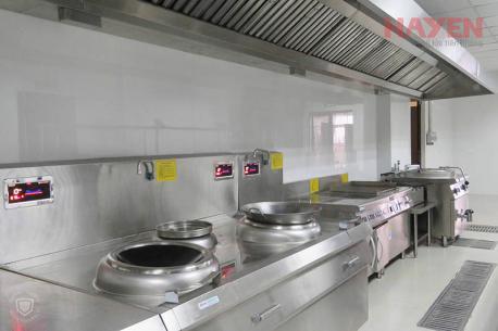 Hệ thống bếp từ công nghiệp bệnh viện Phương Đông.
