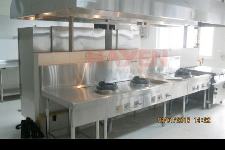 Thiết kế bếp ăn tập thể, nhà ăn cho công nhân đạt chuẩn theo quy tắc một chiều.