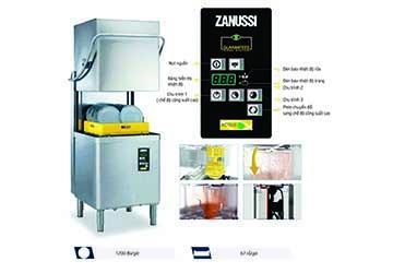 Máy rửa bát Zanussi công suất 67 rổ/giờ - giải pháp tiết kiệm chi phí cho khu bếp nhà hàng khách sạn