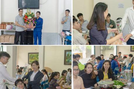 Các anh em công ty CP Hà Yến tổ chức chương trình chào mừng 20/10 cho các chị em