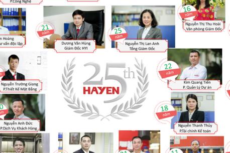 Kỷ niệm 25 năm thành lập - Vinh danh những CBCNV gắn bó lâu năm với Hà Yến