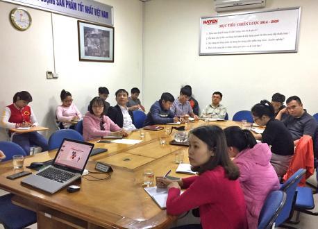 """Hà Yến tổ chức thảo luận nội bộ """"Kỹ năng Giải quyết vấn đề"""" cho cán bộ công nhân viên"""