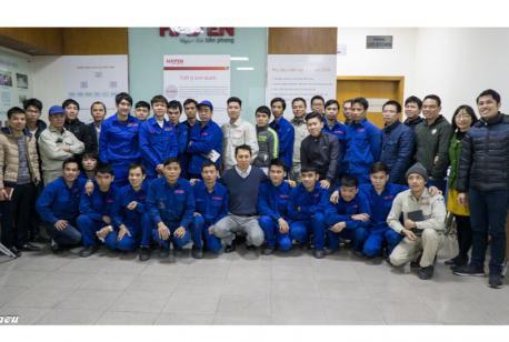 Hà Yến tổ chức chương trình đào tạo nâng cao cho thợ hàn tại nhà máy
