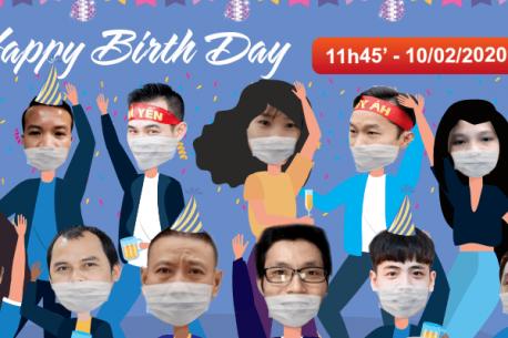 Hà Yến tổ chức bữa tiệc chúc mừng cho các thành viên có sinh nhật trong tháng 02