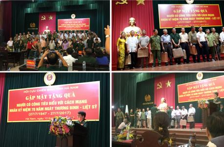 Hà Yến tham gia và tài trợ chương trình Gặp mặt tặng quà người có công tiêu biểu với cách mạng do Hội cựu chiến binh tỉnh Hà Nam tổ chức