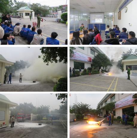 Hà Yến tập huấn công tác phòng cháy chữa cháy năm 2017
