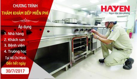 Chương trình thăm khám bếp nhà hàng, khách sạn miễn phí tại TP Hồ Chí Minh