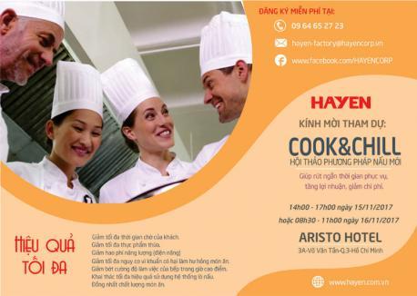 Mời tham dự Hội thảo phương pháp nấu mới COOK&CHILL tại Hồ Chí Minh.