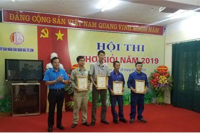 Hà Yến đạt 2 giải nhất tại Hội thi thợ giỏi Quận Bắc Từ Liêm năm 2019