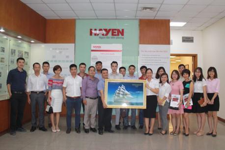 Hà yến đón tiếp đoàn tham quan và chia sẻ về kinh nghiệm ứng dụng phương pháp quản lý sản xuất 5S-Kaizen tại nhà máy