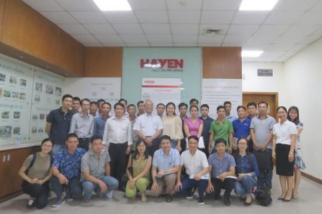 Hà Yến đón tiếp đoàn học viên của Viện phát triển nguồn nhân lực Việt Nam - Nhật Bản(VJCC