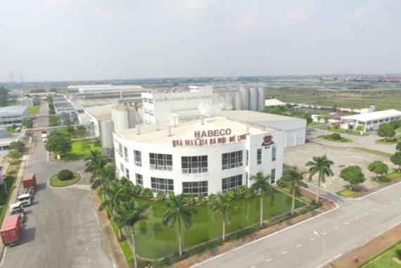 Nhà máy bia Hà Nội -Habeco Mê Linh